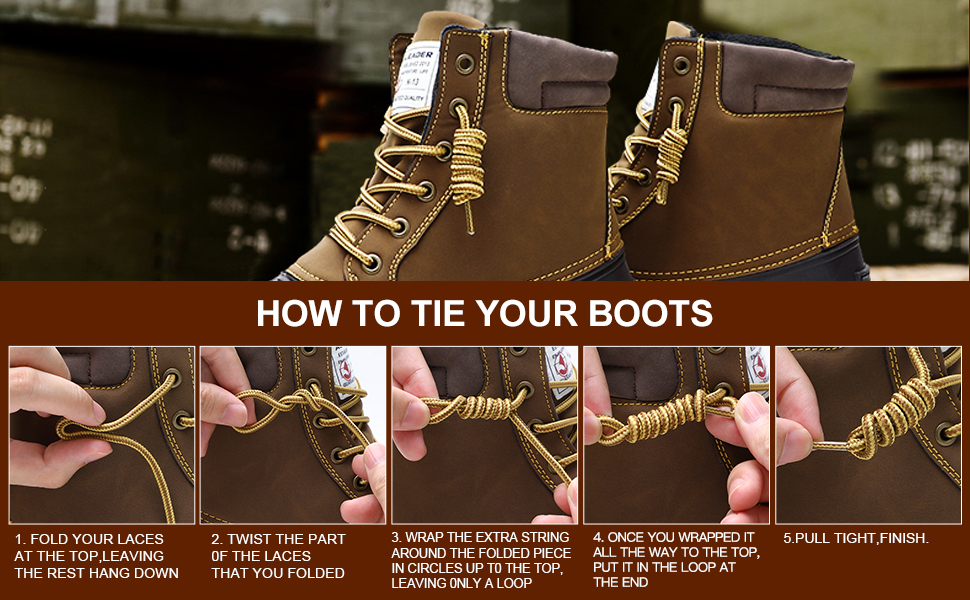 how to tie your boots