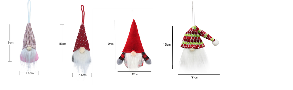 The size of different types of dolls
