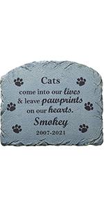 Cat Pawprints Memorial Stone