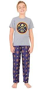 Ultra Game NBA Boys Pajamas 2 Piece Pjs Lounge Pants amp; Tee Set