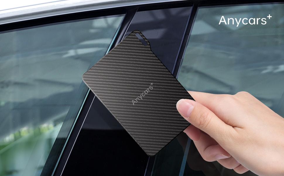 The card keychain has a unique design