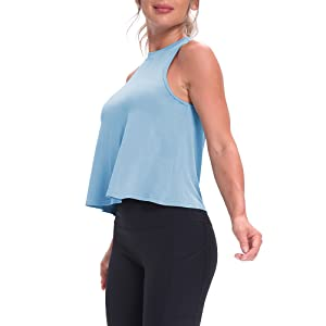 flowy workout croped tops