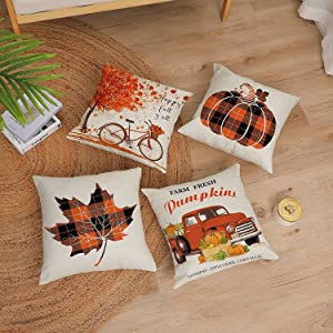 fall pillow covers 18x 18 set of 4