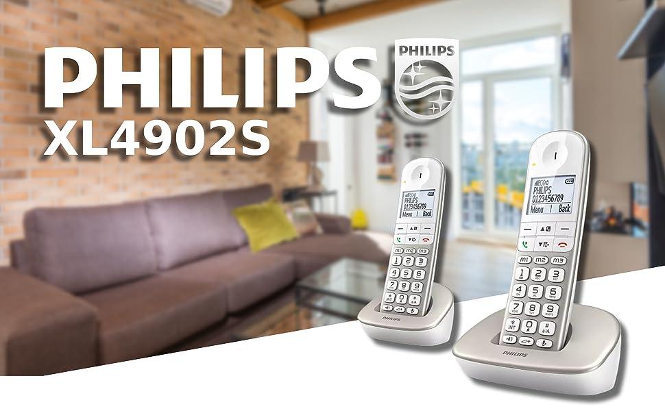 Philips XL telephone telefon Schnurlostelefone
