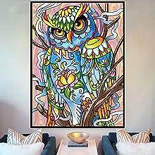Diamond Painting Kits for Adults,Owl Full Drill Round Diamond