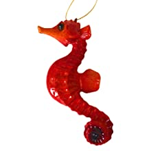 seahorse christmas ornament nautical ocean decor sea beach