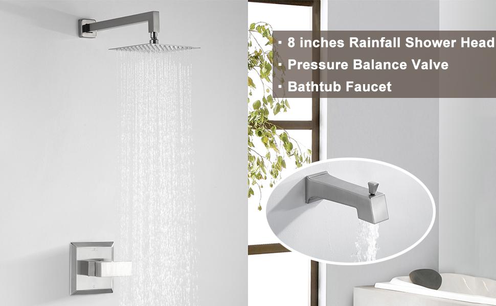 Shower bathtub faucet set