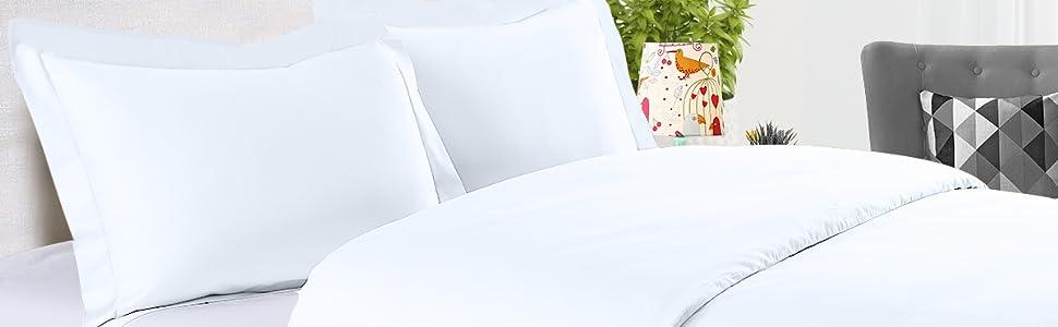 cotton comforter cover set in white