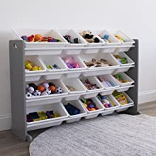 kids toy storage organizer with bins playroom organization