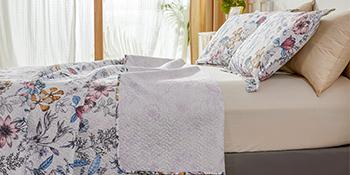 floral bedspread set