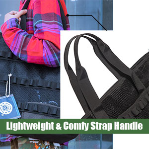Stylish mesh tote bag with comfortable strap handle, makes it a great over-the-shoulder bag