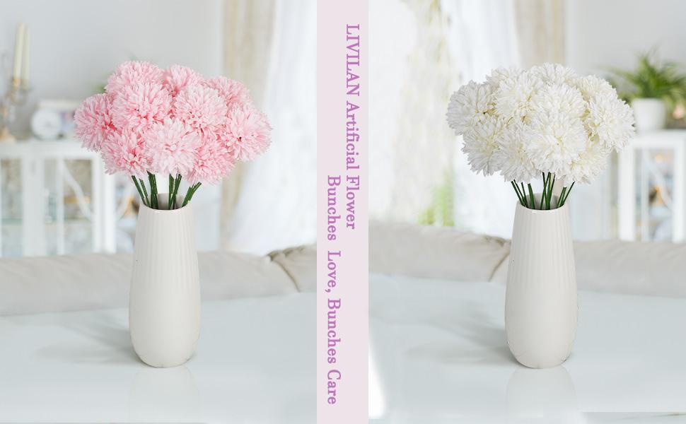 Silk Chrysanthemum Fake Flowers Bridesmaid Bridal Bouquets