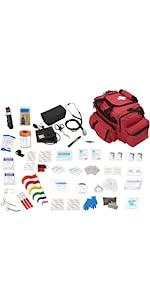 ASA Techmed EMT Bag Fully Stocked - Red