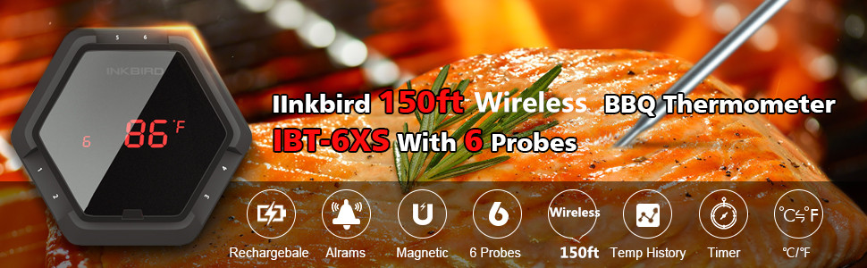 150ft wireless bbq thermometer bluetooth