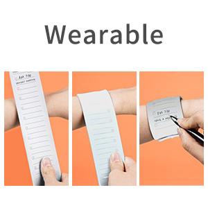 wearable memo wristband