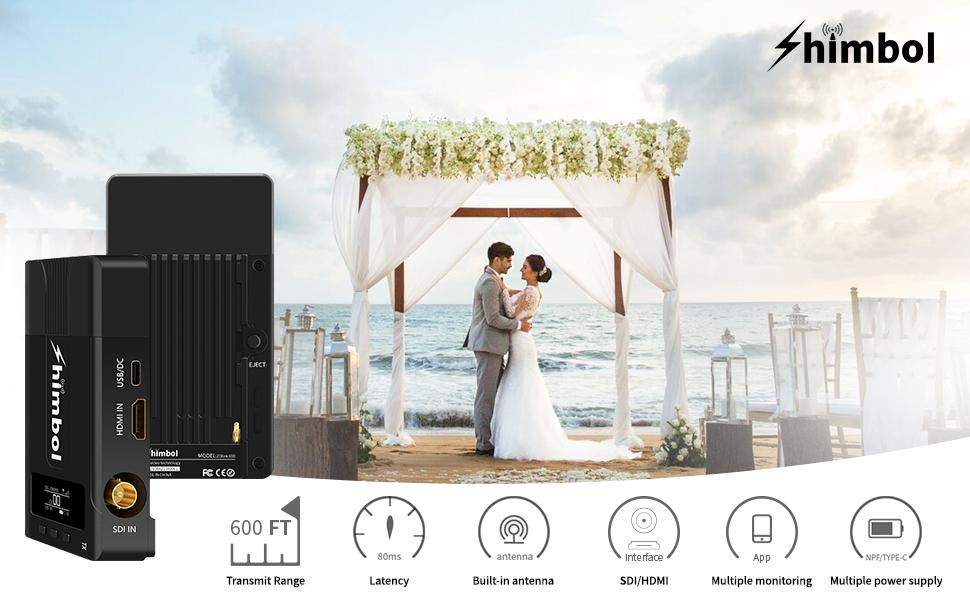 Shimbol ZOlink 600 1080P 60fps HDMIamp;SDI Wireless Video Transmission System