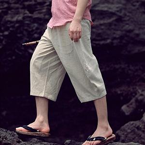 mens linen pants drawstring loose fit linen capri pants for men mens linen pants for wedding