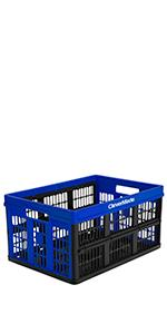 Grated folding crate