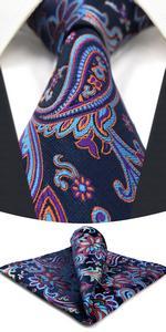 Mens Cravatte Set Blu Viola Fucsia Floreale