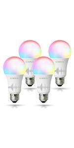 Multicolored light bulb