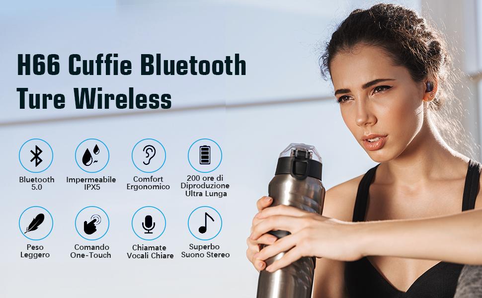 cuffiette bluetooth auricolari wireless Cuffiette cuffie bluetooth sport auricolare bluetooth