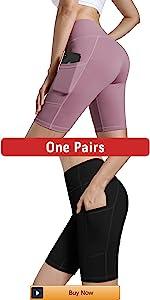 Womenamp;amp;#39;s High Waisted Yoga Shorts with Pockets Workout Biker Shorts