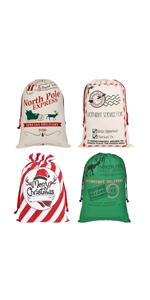 4Pcs Santa sacks