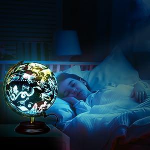Constellation Globe  Night light Bright