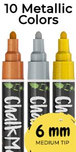 10 Metallic 6mm Chalk Markers