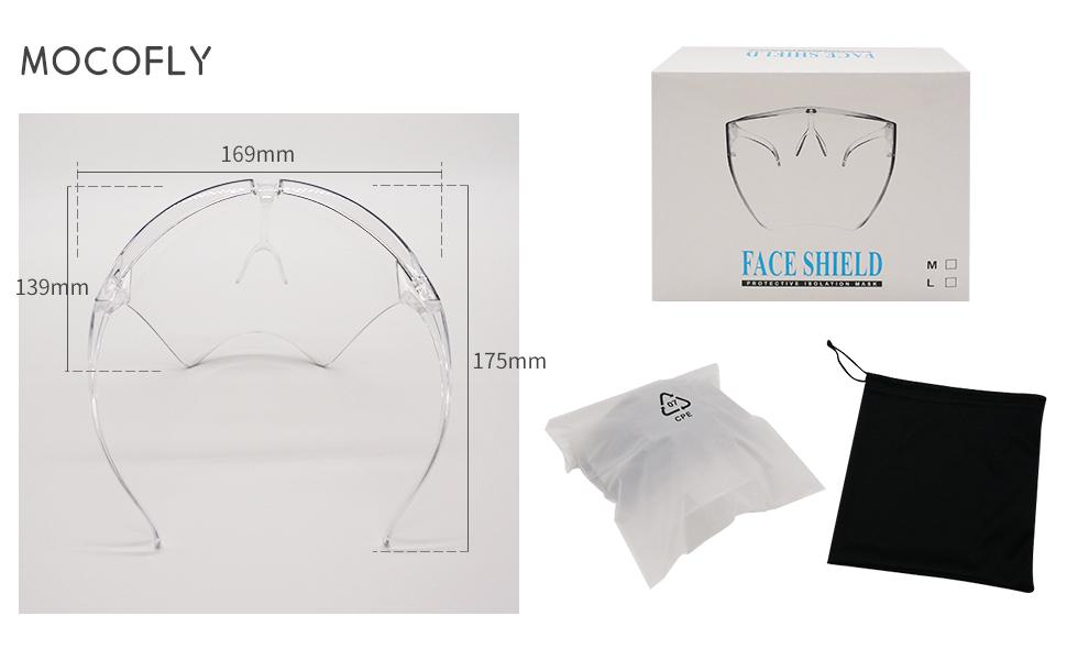 New Version Safety Face Shield With Glasses, Fashion Reusable Adjustable Shield!