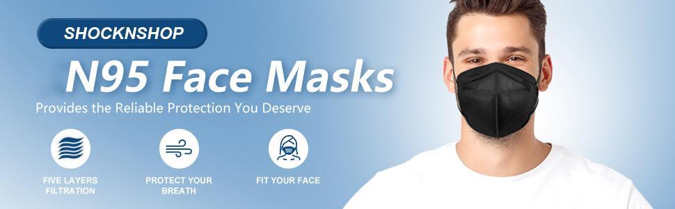 N95 overhead loop mask unisex