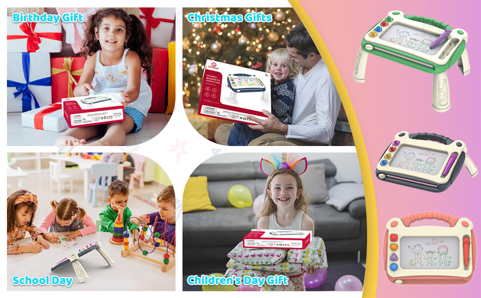 Magnetic drawing board for toddlers 1-3
