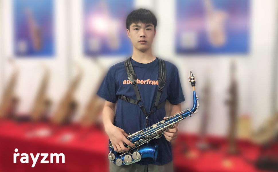 saxophone strap, saxophone harness, padded saxophone strap