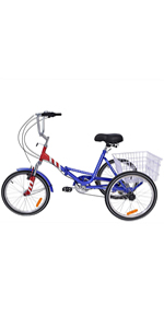 20 inch folding tricycle