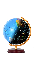 Illuminated World Globe for Kids with Wooden Stand