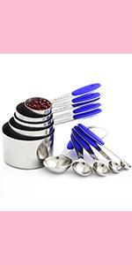 blue measuring spoons