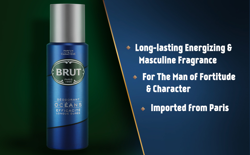 rut,Brut Deodorant, Smells good, Fragrant deodorant, body odor, Ocean deo, From Paris