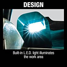 design built-in LED light illuminates work area