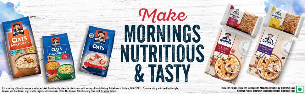 Quaker Oats, Breakfast oats, oats, Nutritional oats