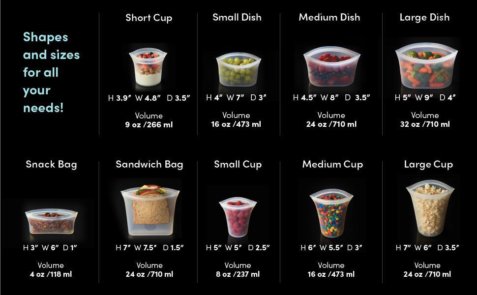 ziptop, zip top, reusable food storage container, silicone container