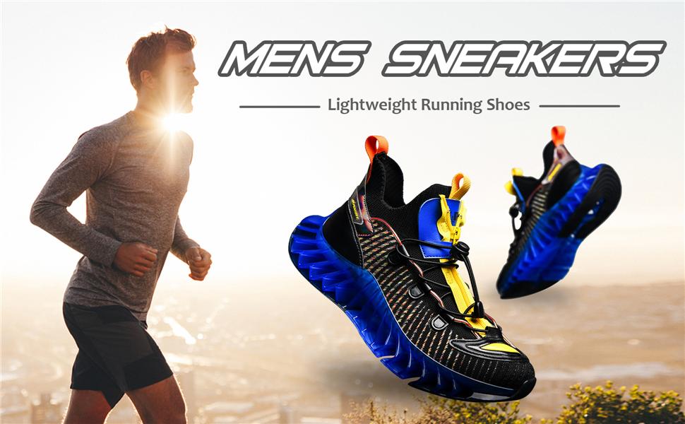 Breathable Non Slip Walking Shoes Non Slip Trail Running Sneakers for Men