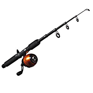 orange and black kit fishing rod for kids