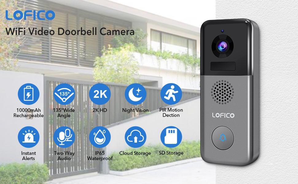 LOFICO WiFi Video Doorbell Camera