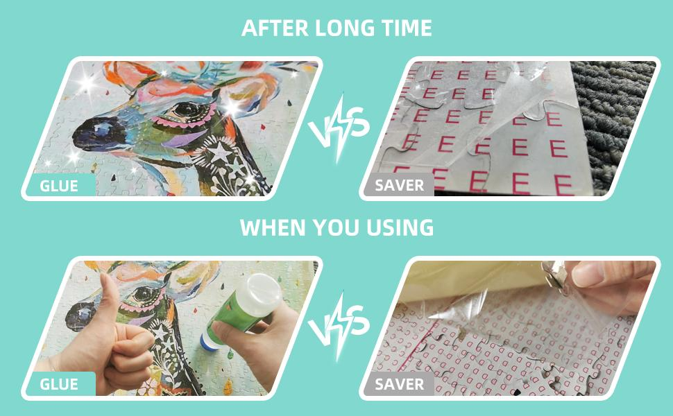 Jigsaw Puzzle Glue VS Sticker Puzzle Saver