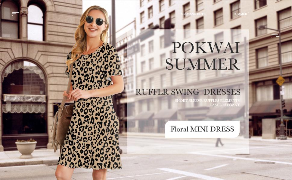 women summer casual t shirt dress