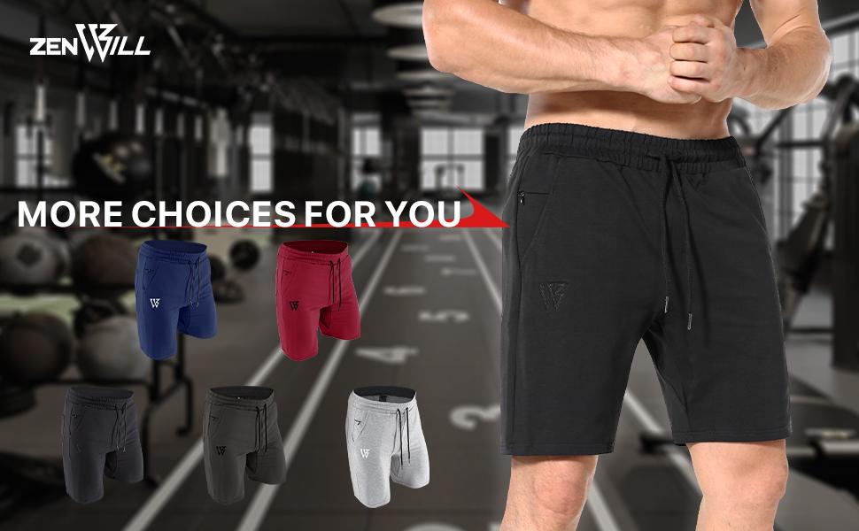 Our brands Premium Brands Popular Brands Mens gym shorts running fitness zip pockets sports workout
