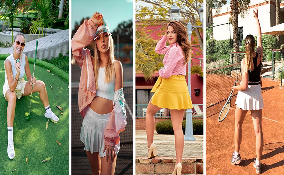athletic skorts skirts for women Stretchy