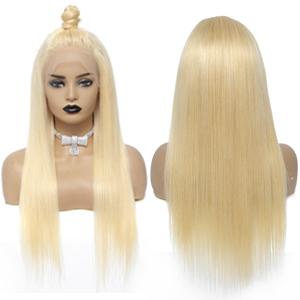 613 blonde human hair wig