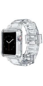 Clear wristband compatiable with Apple watch white