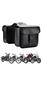 Motorcycle Saddlebags with Code Lock